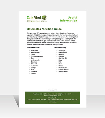 Ostomates Nutrition Guide